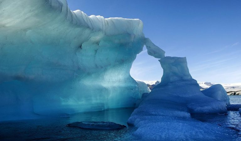 الجليد في ايسلندا